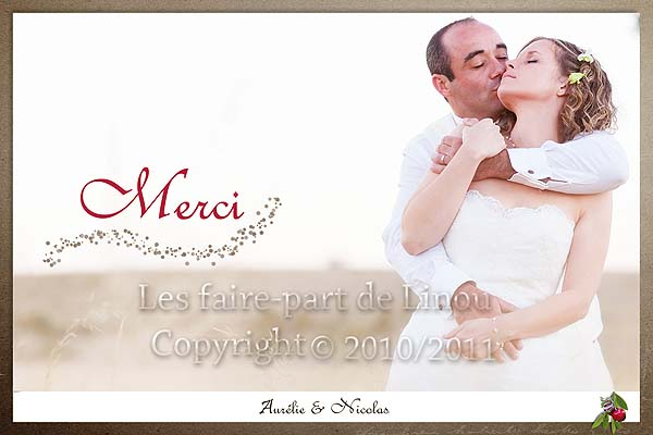 carte de remerciements pour mariage avec photo au format carte postale. Black Bedroom Furniture Sets. Home Design Ideas