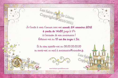 carte d 39 invitation d 39 anniversaire pour petite princesse. Black Bedroom Furniture Sets. Home Design Ideas