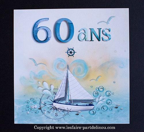 Faire Part D Anniversaire Pour Les 60 Ans Du Capitaine Du Bateau